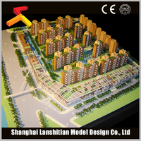 famous residential building model architectual wood house