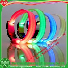 Light up nylon LED dog collar and leash as promotion gift