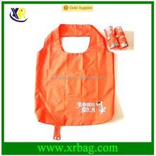 fashion roll shape folding shopping bag polyester nylon material