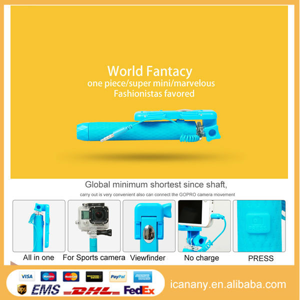 alibaba express in spanish wired mobile phone selfie stick camera tripod self. Black Bedroom Furniture Sets. Home Design Ideas