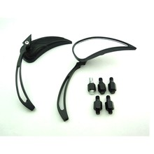 BJ-RM-040 Universal Black Flame clear Lens Motorcycle side mirror For Ktm