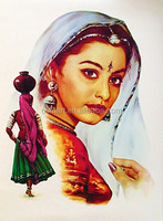Wholesale Price Best Quality Oil Medium Hand Paint Canvas Rajasthani Oil Painting for Hotel Decoration
