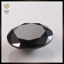 2015 Alibaba Wholesale Black Zircon Round Cut CZ Gems Stones