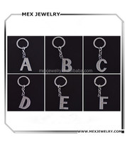 Bling diamond alphabet letters keychain A to Z