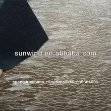 pvc de cuero de tapicería de cuero con brillo de la superficie