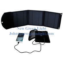 NGL Solar Charger 10W Internal Battery 4000mAh Dual USB Black Water-resistant Monocrystalline Solar Panel NGL-101000503