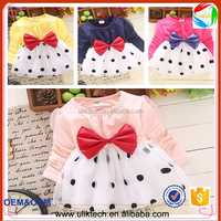 2015 sales promotion baby girl dress autumn clohting in stock child girl clothes for 75-105cm