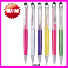 Free shipping 100pcs/lot Stylus Colorful Metal crystal pen of crystal ball pen for stock pen
