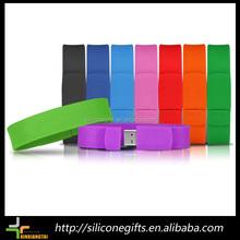 oem private label silicone bracelet usb flash drive for kids