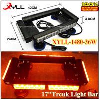 36W 17inch truck led amber strobe light ,mini storbe light bar warning light used 4 X 4 truck