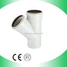 PVC skew tee/pvc fittings for water Drainage with rubber joint