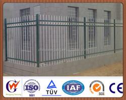 Ornamental galvanized steel fence post design