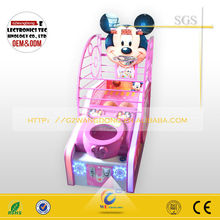 Made in china coin operated street electronic basketball game for sale