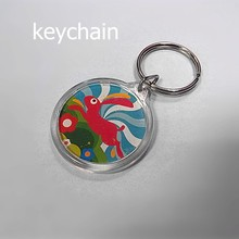 Customized Design Fancy Advertising Plastic Transparent Key Chain Blank Key Ring