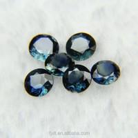 5mm round brilliant cut gemstone rough sapphire