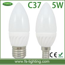 5W Ceramic LED Candle Lights with Base E14 E27 B22