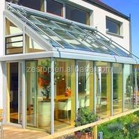 Laminated safety glass aluminium frame sunroom,prefab house,sunshine houses