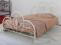 factory manufactured mordern design iron double bed