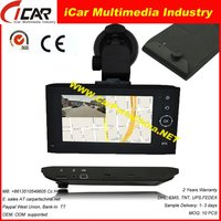 Manufacture!!! recording while navigation Touch Screen X6 4.3 inch car dvr gps navigation