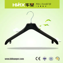 HBX502 Wholesale plastic custom hanger color print suit hangers with high quality
