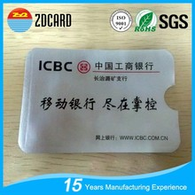 Custom print bank card info protector factroy