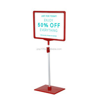 a4 plastic poster frame stand for supermarket price display