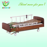 electric home care nursing medical wooden bed