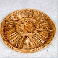 Natural Wicker/Bamboo Basket round shape for peanut