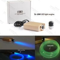 Hight brightness 16W RGB colorful fiber optic led light source for ceiling lights