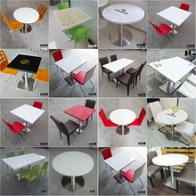 Modern unique solid surface fast food restaurant furniture