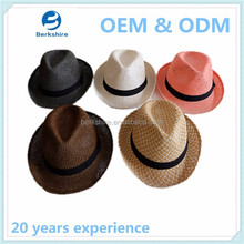 Promotional straw hat,crushable straw hats,foldable straw hat