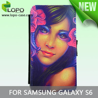 sublimation leather phone case for Samsung Galaxy S6