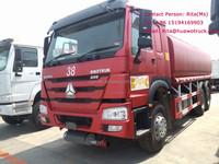Sinotruck Fuel Tank Truck HOWO 6x4 Tank 15000 Liters