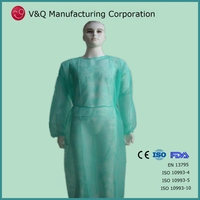 pp nonwoven disposable medical ppe dental visitor gown