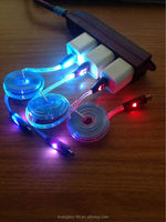 China wholesale factory price new arrival Color LED 8 pin USB Data/Sync Charger Cable Cord for iPhone 5 5G ios7 3ft