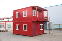 Steel modern prefab pre modular container houses for traveling site