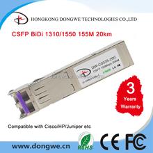 CSFP Module, 155M Compact Bi-Di SFP Transceiver, 20km Reach, 1310nm TX / 1550 nm RX