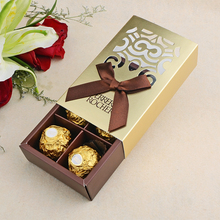 Custom empty luxury fancy paper chocolate packaging box