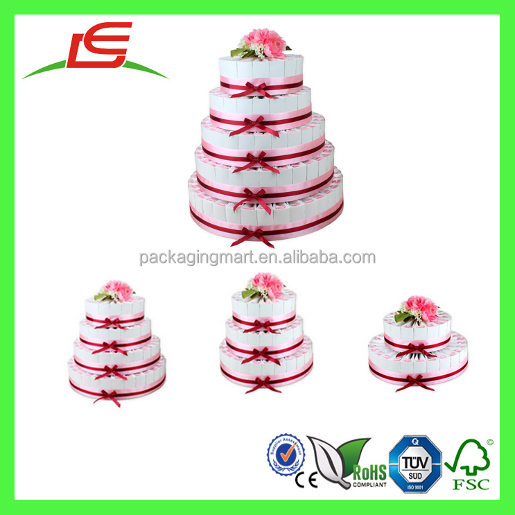 Q1146 Decorate Cheap Wedding Cake Favor Boxwedding Cake Display