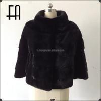 Factory direct wholesale women's mink coat/natural mink fur coat/modern mink fur coat