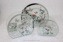 Custom Heart heat resistant glass candle holder