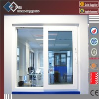 China top quality aluminum window and door manufacturer popular sliding opening aluminum windows