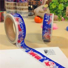 Custom Printed DIY Decorative Adhensive Washi Tape Paper Tape