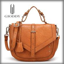 Fashionable lady luxury durable rose leather handbag