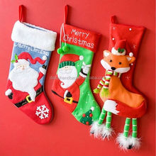 hot sale decoration christams stocking, different design christmas stockings