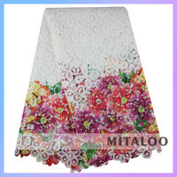 Mitaloo Multicolor Guipure Lace Wholesale African Lace Fabrics White Color MCP0033