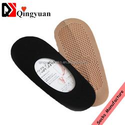 antislip women cotton drop ship invisible socks latex antislip ankle socks