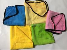 Different color edgeless dual pile microfiber cloth