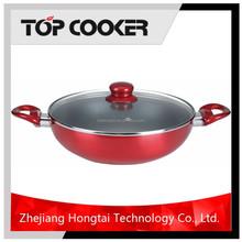 Aluminum ceramic coating two handle wok
