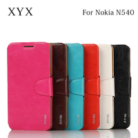 Embossed logo smart mobile phone accessories for nokia lumia 540 leather case